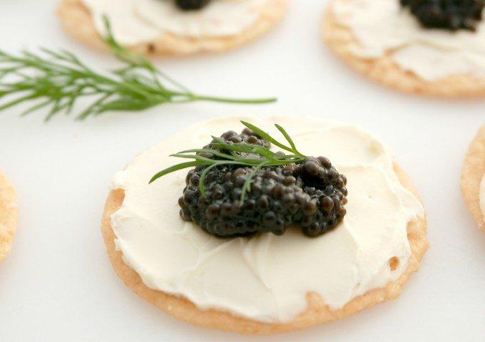 Caviar opskrifter med kiks