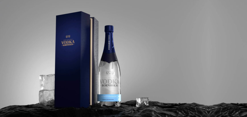 Vodka Bornholm Bottle-Boxfb